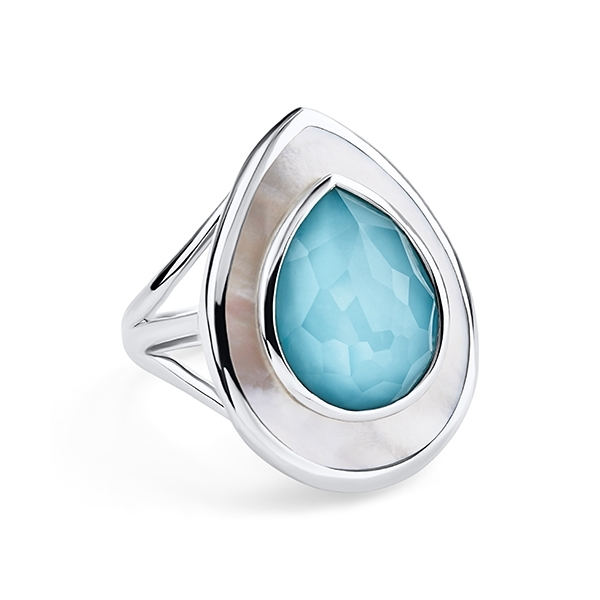 IPPOLITA Ondine Teardrop Ring in Turquoise & Mother-Of-Pearl photo