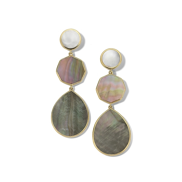 IPPOLITA Polished Rock Candy Crazy 8s Earrings in Sabbia photo