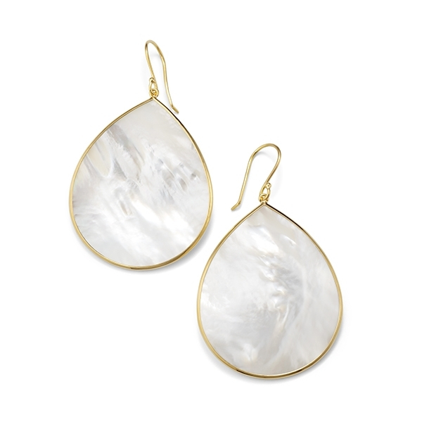 IPPOLITA Polished Rock Candy Large Teardrop Earrings in Mother-of-Pearl photo