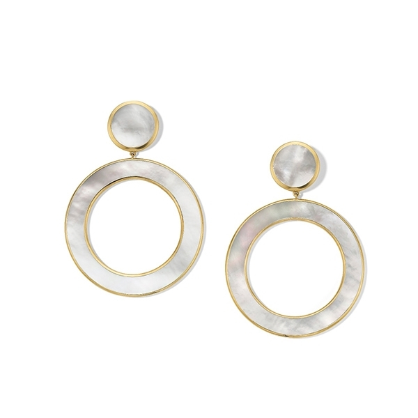 IPPOLITA Polished Rock Candy Slice Earrings in Mother-of-Pearl photo