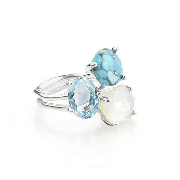 IPPOLITA Rock Candy Three Stone Cluster Ring in Harmony photo