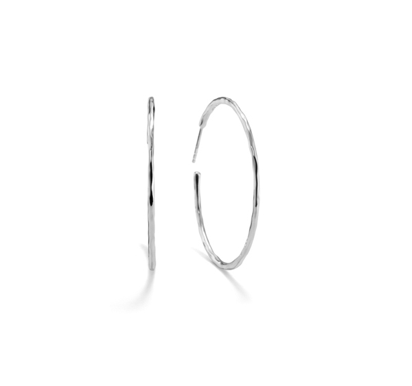 IPPOLITA Silver #3 Hammered Squiggle Hoops photo