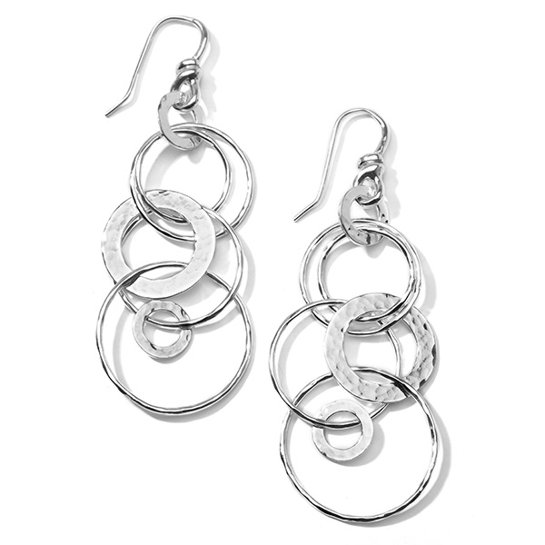 IPPOLITA Sterling Silver Hammered Jet Set Earrings photo