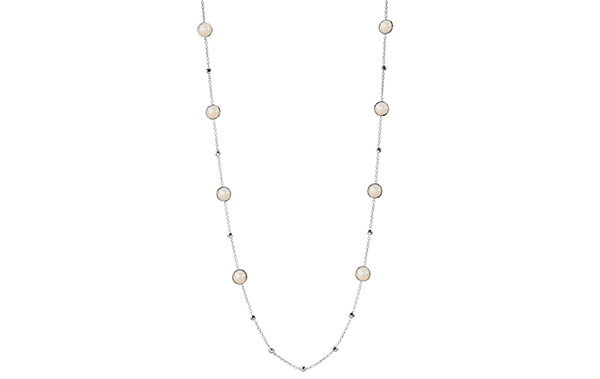 IPPOLITA Sterling Silver Rock Candy Mini Lollipop and Hammered Ball Station Necklace in Mother-of-Pearl photo