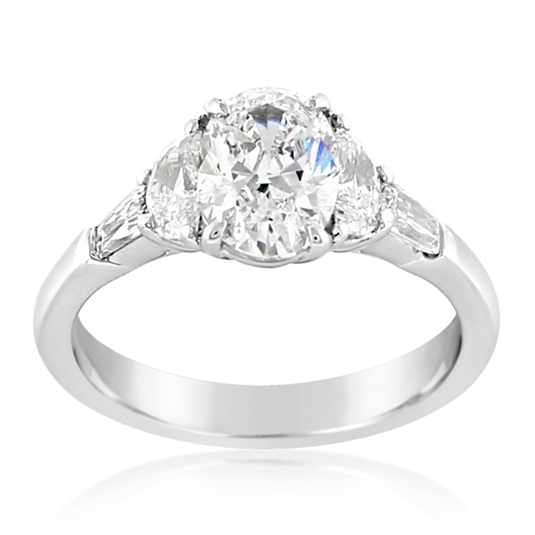 JB STAR Complete 1.98 Carat Oval Diamond Engagement Ring photo