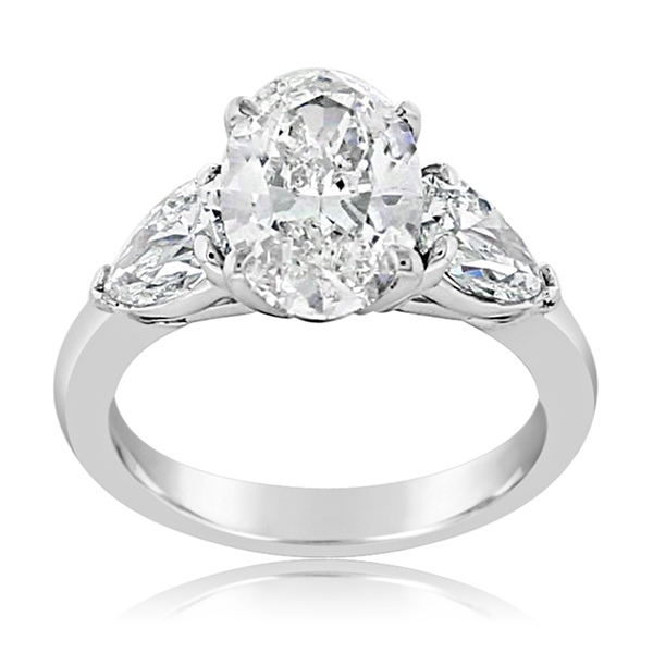 JB STAR Complete 3.93 Carat Three-Stone Engagement Ring photo