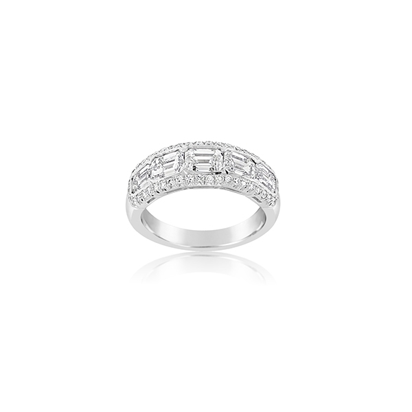 JB STAR Emerald Cut Diamond Band photo