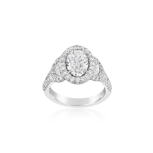 JB STAR Oval Diamond Engagement Ring photo