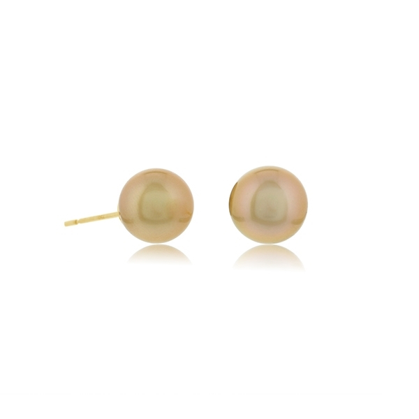 JEWELMER Golden Pearl Studs photo