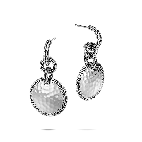 JOHN HARDY Classic Chain Hammered Drop Earrings photo