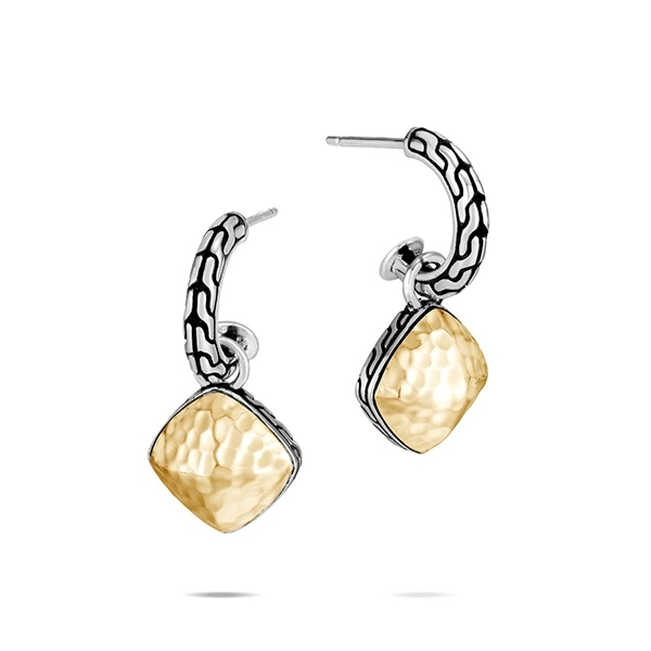 JOHN HARDY Classic Chain Hammered Sugarloaf Drop Earrings photo