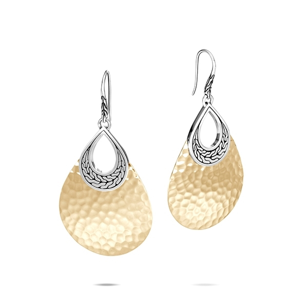 JOHN HARDY Classic Chain Hammered Teardrop Earrings photo