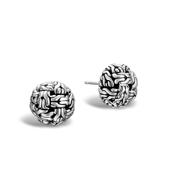 JOHN HARDY Classic Chain Knot Stud Earrings  photo