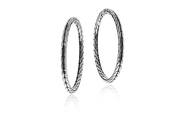 JOHN HARDY Classic Chain Medium Hoop Earrings photo