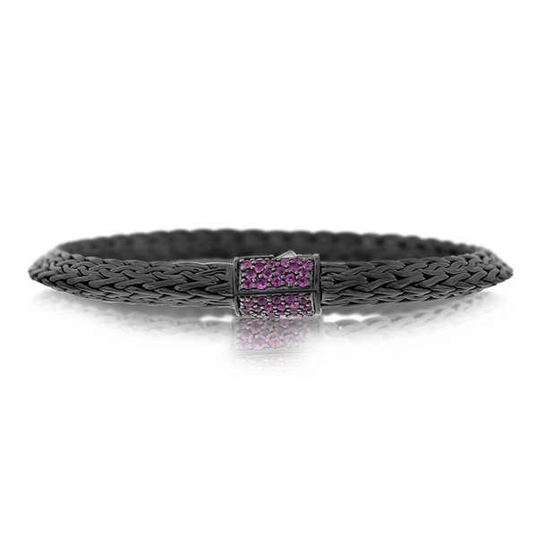 JOHN HARDY Classic Chain Tiga 6.5mm Bracelet with Pink Sapphire photo