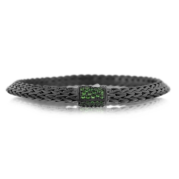 JOHN HARDY Classic Chain Tiga 6.5mm Bracelet with Tsavorite photo
