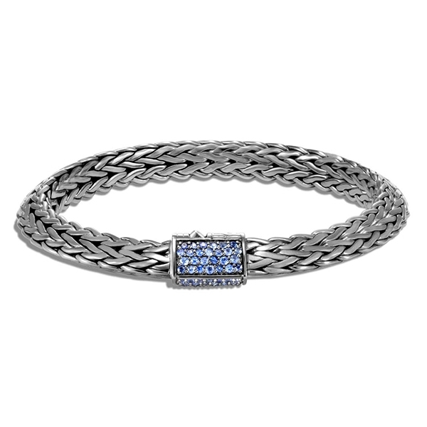 JOHN HARDY Classic Chain Tiga 8MM Bracelet with Blue Sapphire photo