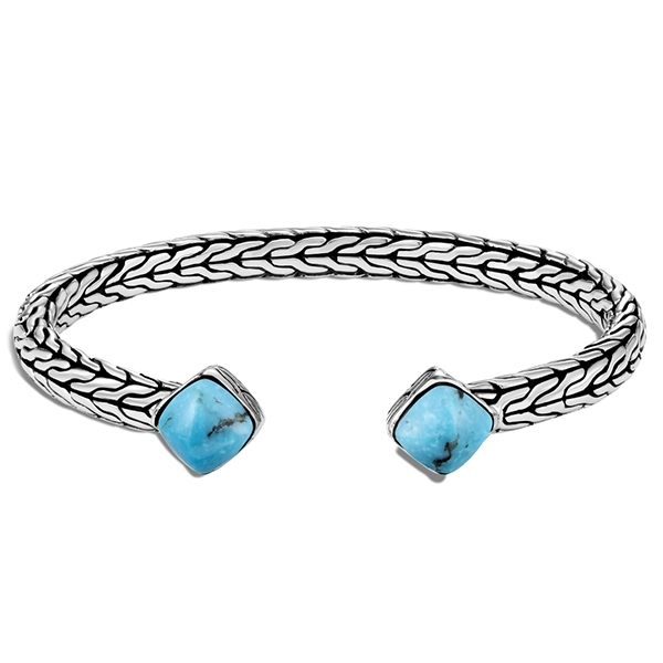 JOHN HARDY Classic Chain Turquoise Cuff photo