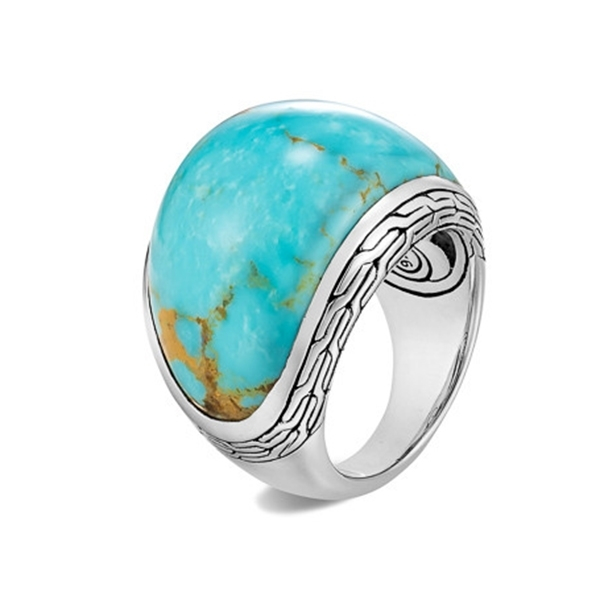 JOHN HARDY Classic Chain Turquoise Ring photo