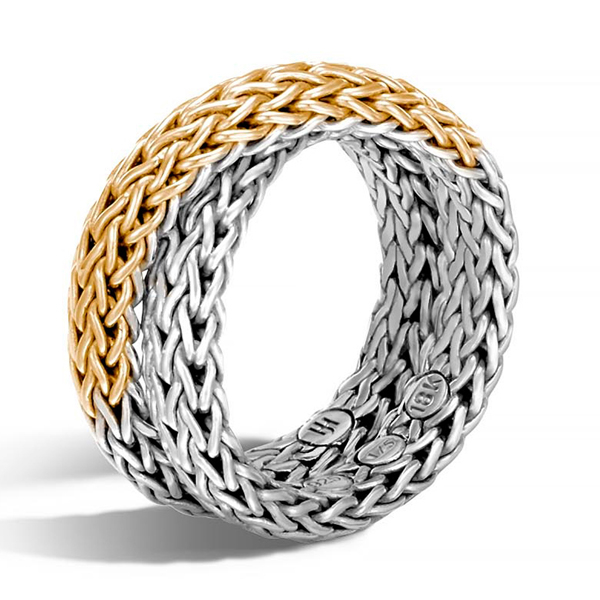 JOHN HARDY Classic Chain Two Toned Intersecting Ring photo