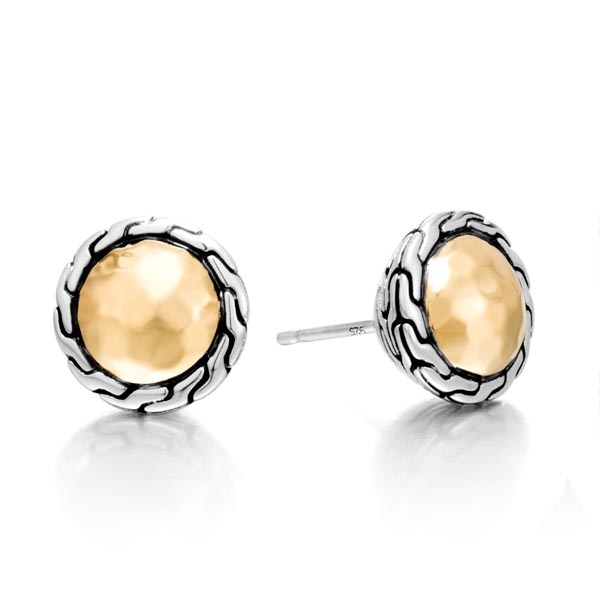 JOHN HARDY Classic Chain Two Toned Stud Earrings photo