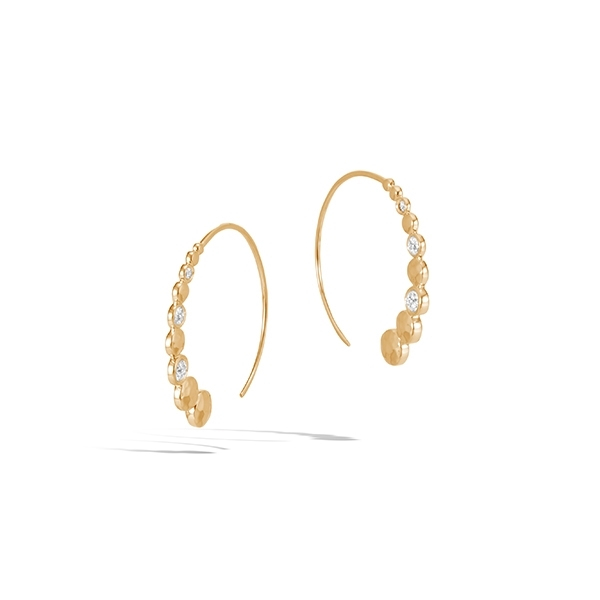 JOHN HARDY Dot Diamond Hoops photo