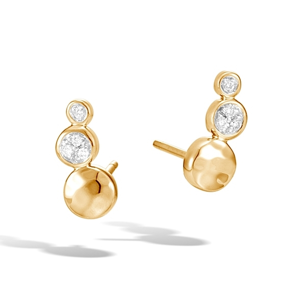 JOHN HARDY Dot Hammered Diamond Earrings photo