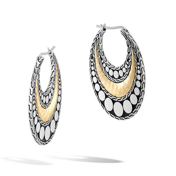 JOHN HARDY Dot Hammered Hoops photo