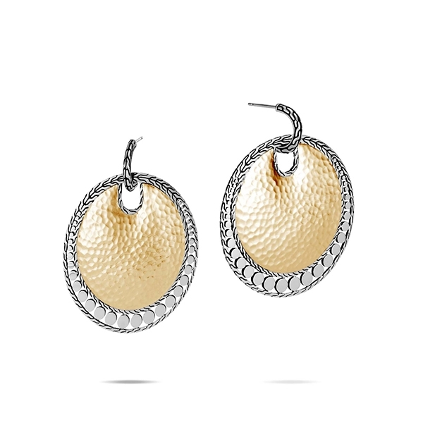 JOHN HARDY Dot Hammered Large Disc Earrings photo