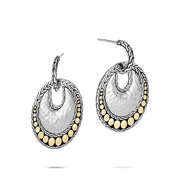 JOHN HARDY Dot Hammered Round Drop Earrings photo