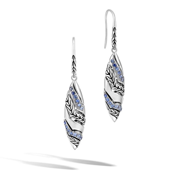 JOHN HARDY Lahar Blue Sapphire Earrings photo