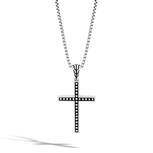 JOHN HARDY Men's Classic Chain Jawan Cross Pendant photo