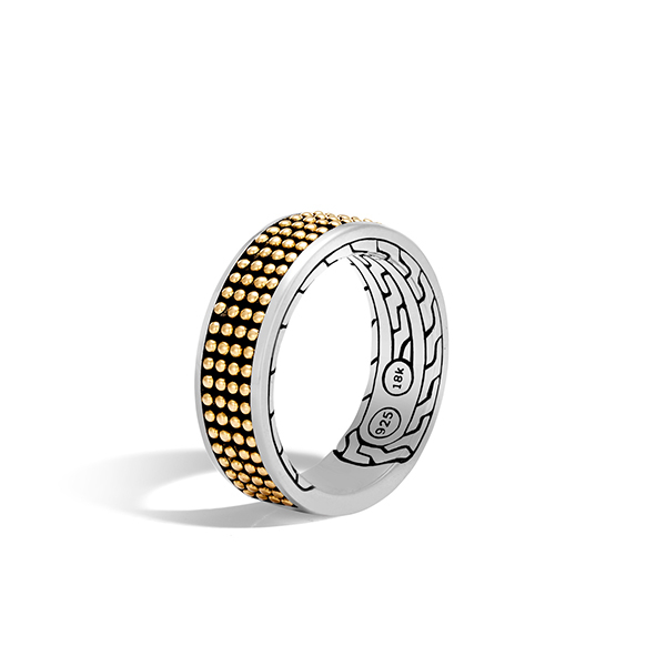 John Hardy silver and gold ring for mens