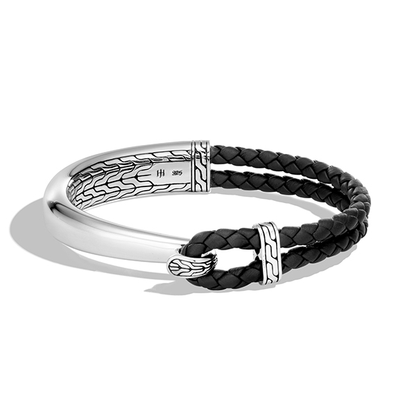 John Hardy Men S Clic Chain Leather Metal Bracelet