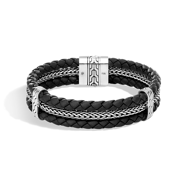 JOHN HARDY Men's Classic Chain Leather & Metal Bracelet photo