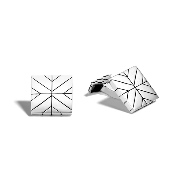 JOHN HARDY Men's Modern Chain Square Cufflinks photo
