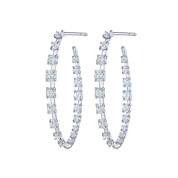 KWIAT Diamond Hoop Earrings photo