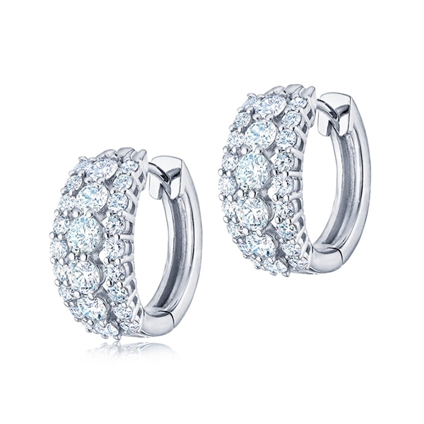 KWIAT Lyric Diamond Huggie Earrings photo