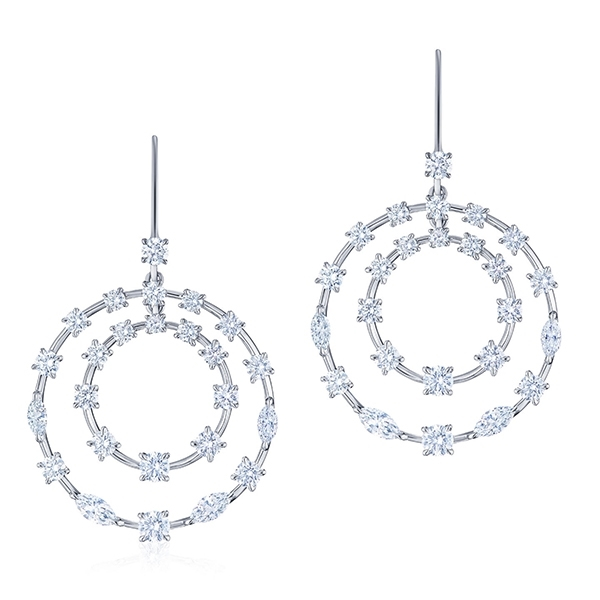 KWIAT Starry Night Circle Diamond Earrings photo