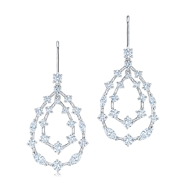 KWIAT Starry Night Teardrop Diamond Earrings photo