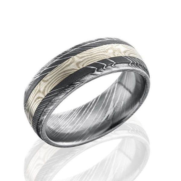 LASHBROOK Men's Damascus Wedding Band photo