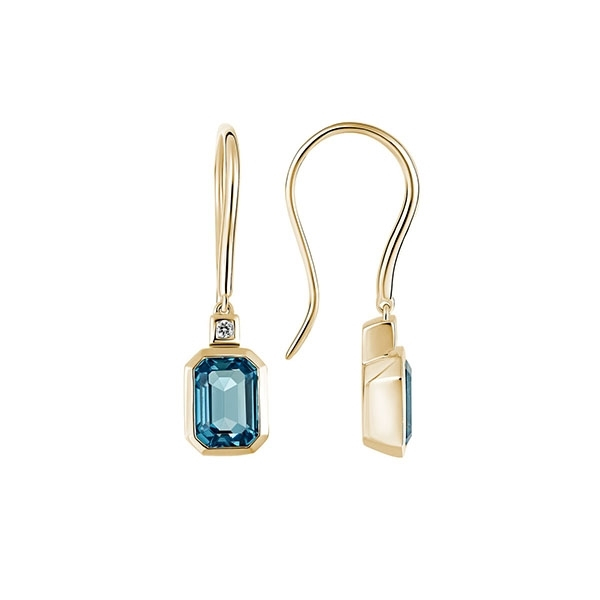 London Blue Topaz & Diamond Earrings photo