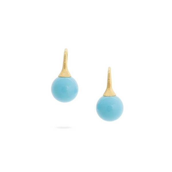 MARCO BICEGO Africa Boules Turquoise Earrings photo