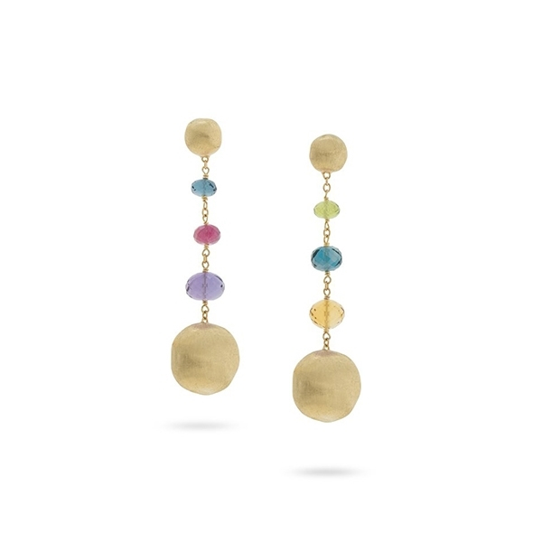 MARCO BICEGO Africa Multi-Colored Gemstone Earrings photo