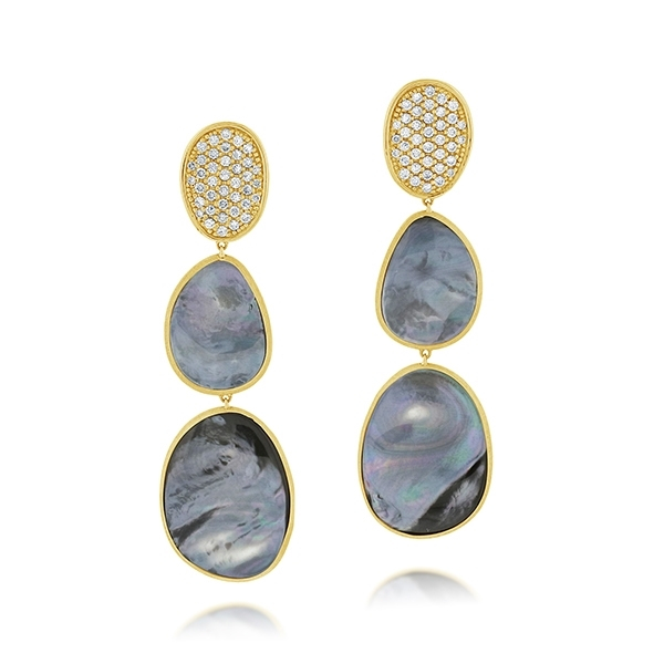 MARCO BICEGO Lunaria Black Mother-of-Pearl Earrings photo