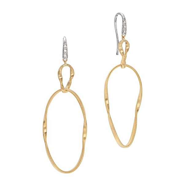 MARCO BICEGO Marrakech Onde Diamond Drop Earrings photo