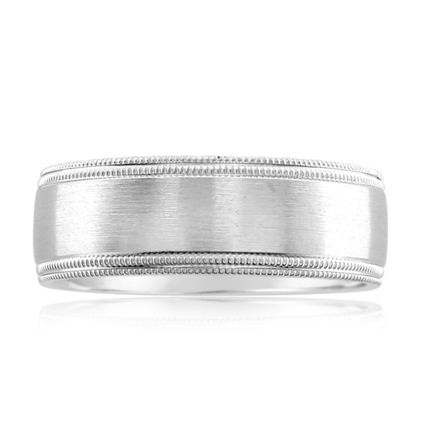 Men's Brushed Wedding Band photo
