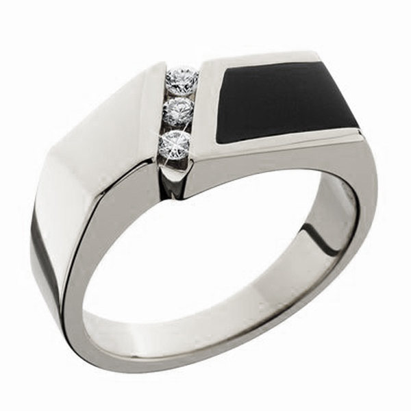 eade527f7299d8 Men's Diamond & Black Onyx Wedding Band | Reis-Nichols Jewelers