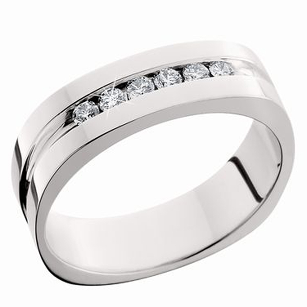 Men's Diamond Wedding Band photo
