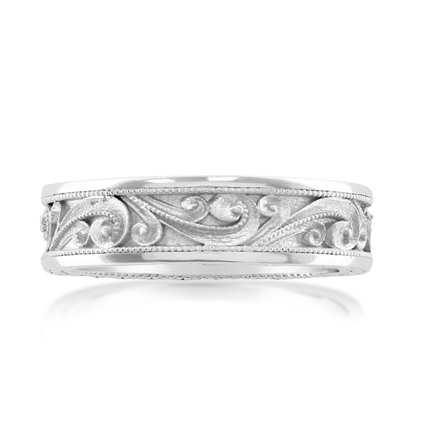 Men's Engraved Wedding Band photo